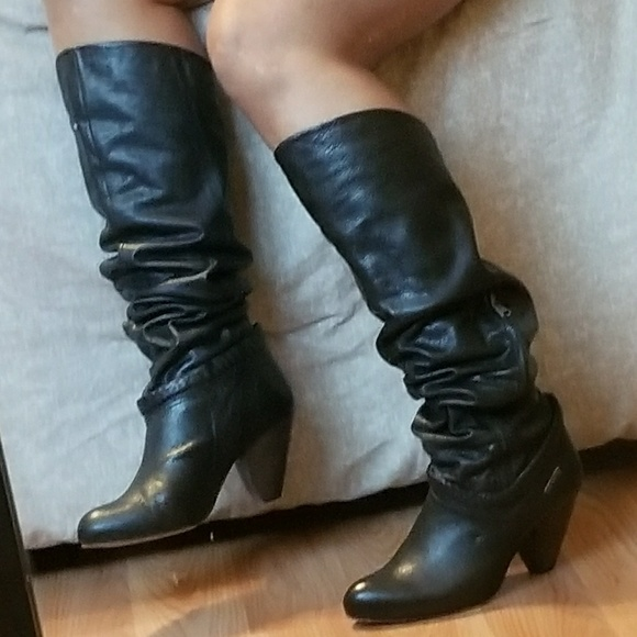 c9d404b0fbd Diesel leather over knee soft leather boots